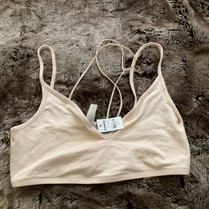 Express 111 cream bralette NWT